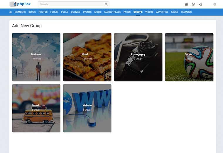 Groups App phpfox