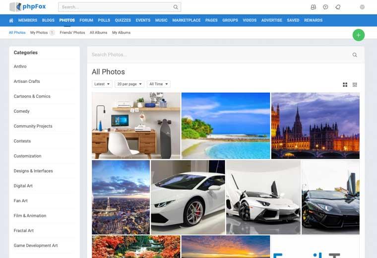 Photos App phpFox